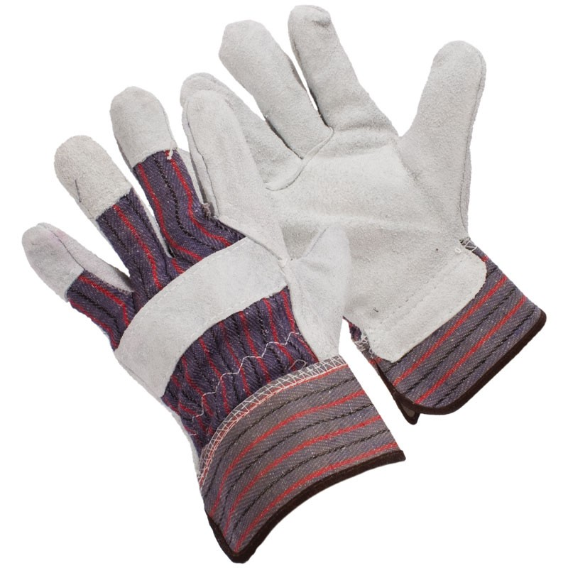 7200R-M Leather Palm/Canvas Back Medium Work Gloves