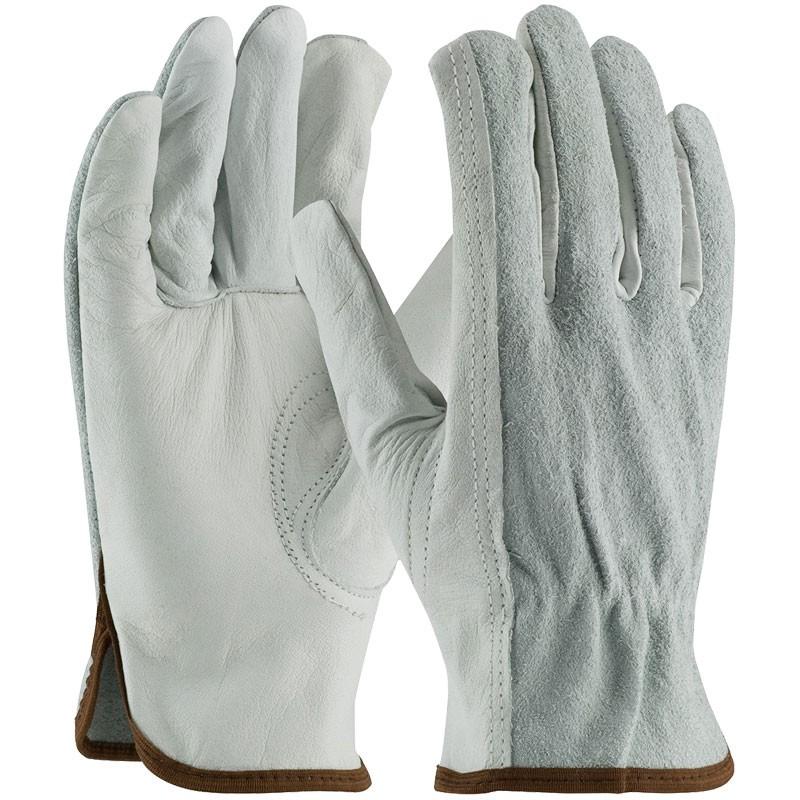 Good Cowhide Drivers Glove, Top-Grain Palm / Split Back, Medium