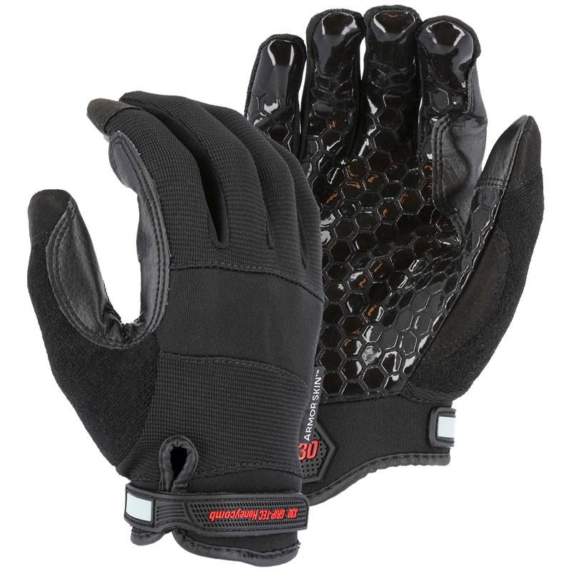 ArmorSkin Mechanics Glove, Silicone Grip, Large