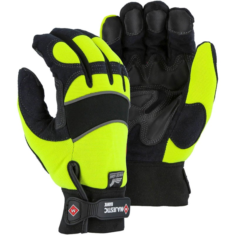 ARMORSKIN™ Hi-Vis Hawk Waterproof Mechanics Glove - Medium