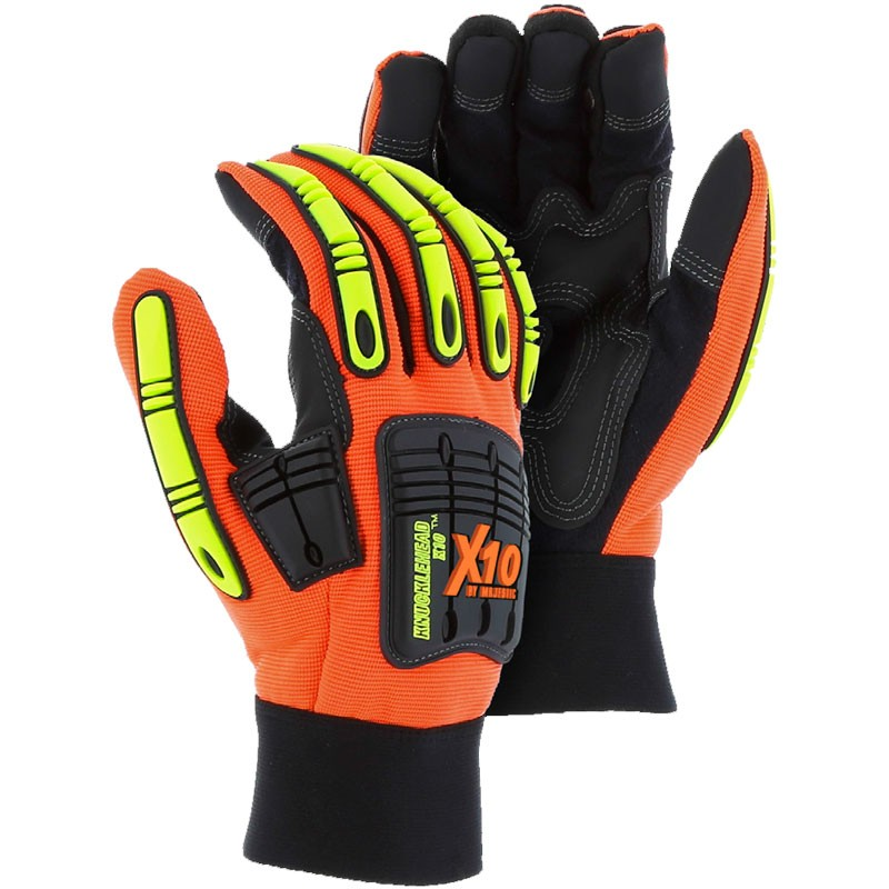 ARMORSKIN™ Knucklehead X10 Hi-Vis Mechanics Glove, Large