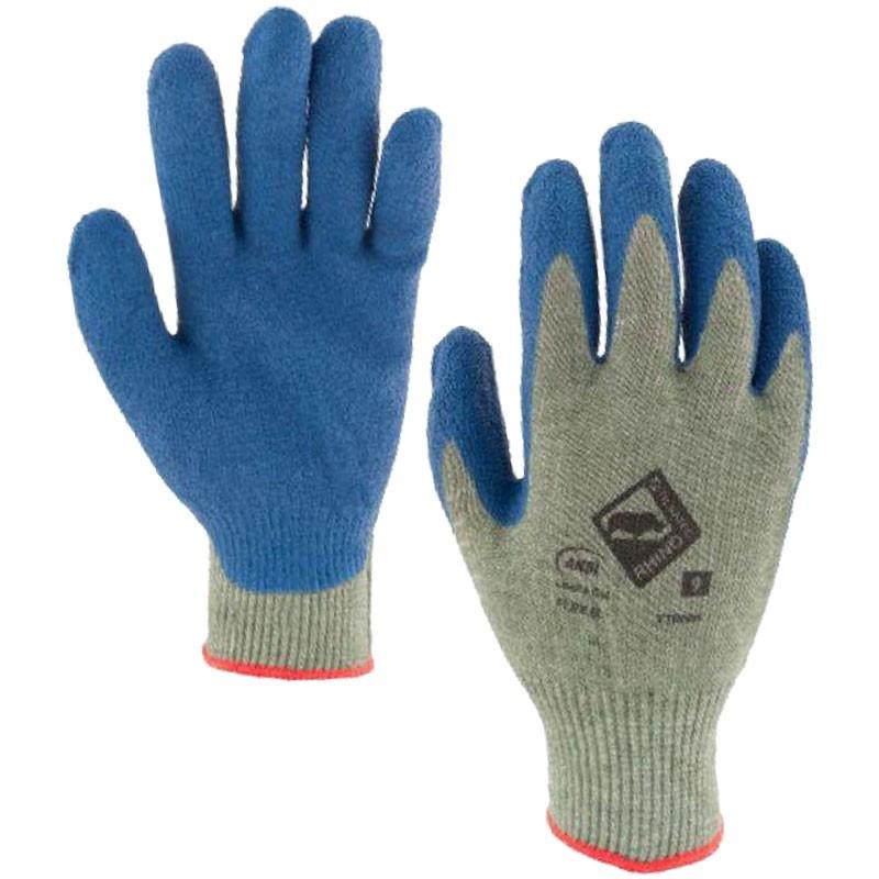 RhinoYarn® Cut-Resistant Glove, Latex Coated Palm, 2-XL