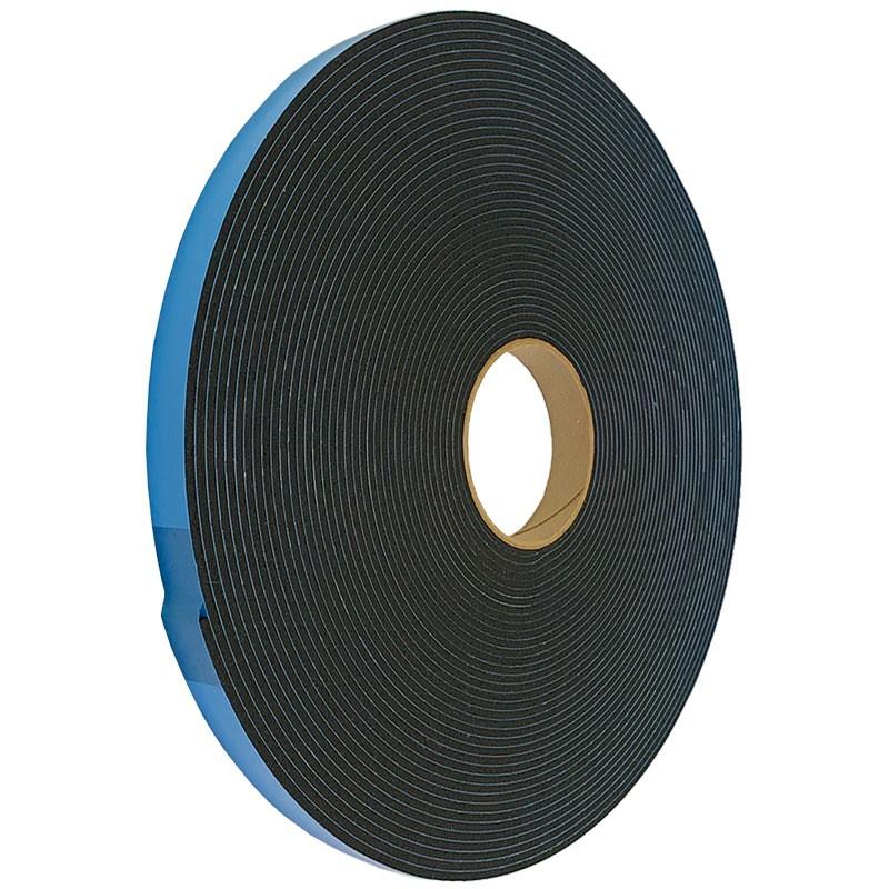 "1/16"" DC Medium Density PVC Tape, Black, 3/4"" x 150'"