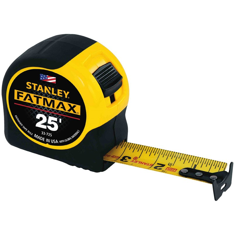 "25' x 1-1/4"" Stanley Fat Max Tape Measure"