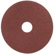 """4-1/2"""" x 7/8"""" A100 Grit Aluminum Oxide Resin Fiber Disc   HUB"""