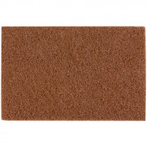 "6"" x 9"" Non Woven Hand Pad - Brown (Heavy Duty Coarse)"