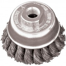 "2-3/4"" x 5/8""-11 Knot Wire Cup Brush .020 Wire - Carbon Steel"