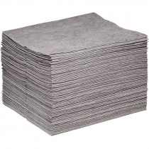 "15"" x 18"" Universal Commercial Grade Sorbent Pads, Medium Weight (100 Per Bale)"