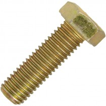 5/8-11 X 2 HEX CAP SCREW GR 8 ZINC/ YELLOW