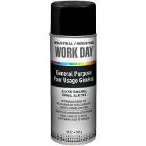 Work Day™ General Purpose Enamel Spray Paint - Flat Black