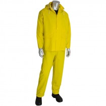 3-Piece Yellow Rainsuit, 2-XL