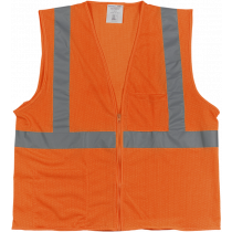Class 2 Safety Vest - Orange Mesh - Medium