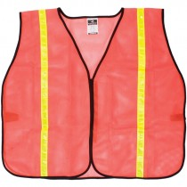 Non-Rated Safety Vest - Orange Mesh, Universal Small - X-Large
