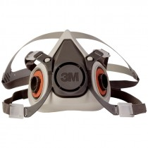 3M 6100-S Dual Cartridge Respirator Assembly, Small
