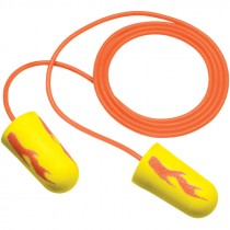 Earsoft Corded Neon Yellow Blast Foam Earplugs
