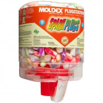 Moldex® SparkPlugs® PlugStation® Earplugs, 250 Pairs, Uncorded