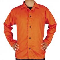 3XL Orange Cotton Welding Jacket