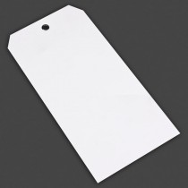 "10-PT (5-1/2"" x 3"") Un-Wired Vinyl Tag - White"
