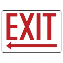 "10"" x 14"" Exit Sign with Left Arrow"