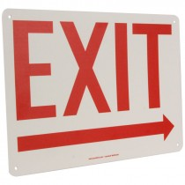 "10"" x 14' Exit Sign with Right Arrow"