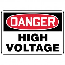 "7"" x 10"" Danger High Voltage Sign"
