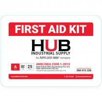 HUB 25 Person ANSI Class A First Aid Kit, Plastic Case