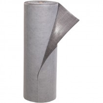 "32"" x 100' Absorbent Floor Mat Roll, Adhesive-Back, Gray"