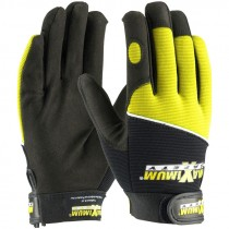 MX2820-XL X-Large Black and Yellow Professional Mechanics Gloves