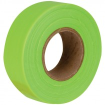 "1-3/16"" x 50 Yd Flagging Tape - Fluor Lime"