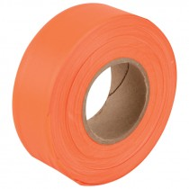 "1-3/16"" x 50 Yd Flagging Tape - Flour Orange"