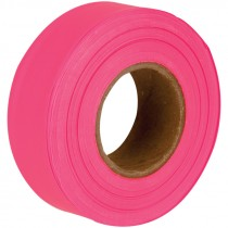 "1-3/16"" x 50 Yd Flagging Tape - Fluor Pink"