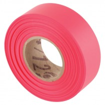 "1-3/16"" x 50 Yd Flagging Tape - Flour Red"