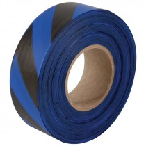 "1-3/16"" x 100yds Blue/Black Striped Flagging Tape"