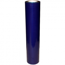 "12"" x 660' PE Duct & Surface Protection Film, Sticky Back, Blue, 2.0 Mil"