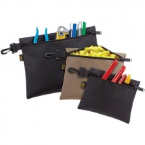 3 MULTI PURPOSE CLIP-ON ZIPPERED BAGS