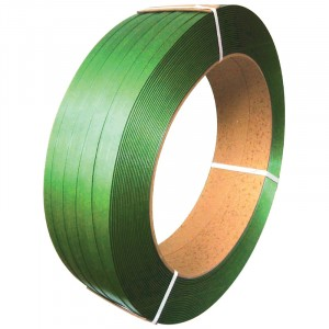 """1/2"""" x 6,500' 900 Lbs. Polyester Strapping - Green"""