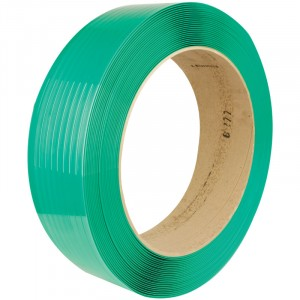 """5/8"""" x 4,200' 1,300 Lbs. Polyester Strapping - Green"""