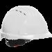 JSP® Vented Hard Hat, Wheel Ratchet Suspension, White