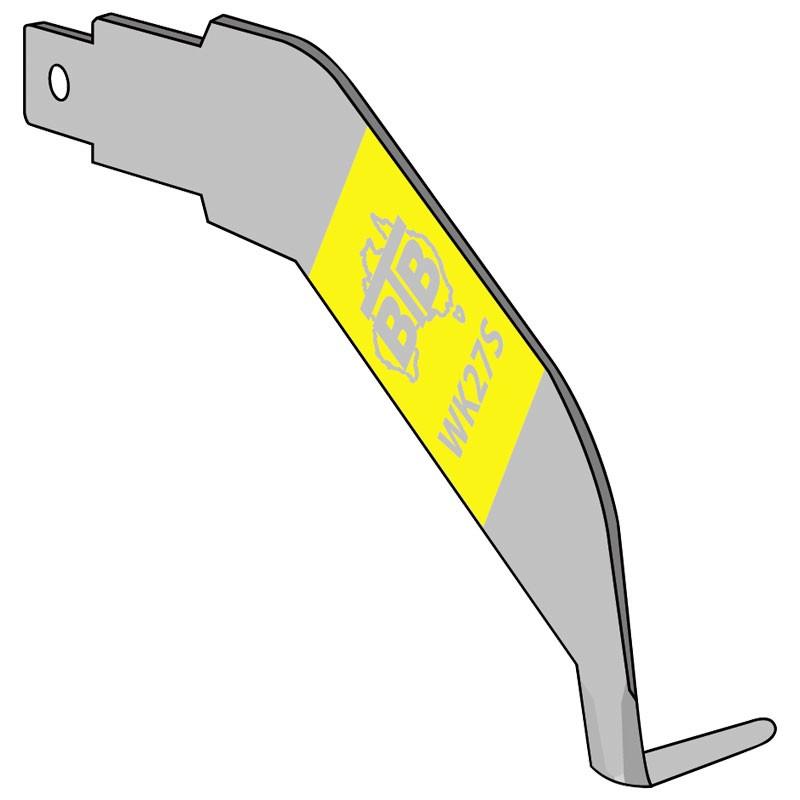 """BTB Left Hand Cold Knife Blade - 3/4"""" Tip"""
