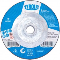 "4-1/2"" x 1/8"" x 5/8-11 A30S-BF T27 Grinding Wheel for Carbon Steel (Max RPM: 13,300)"