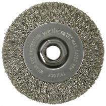 "4"" x 5/8-11 Crimped Wire Wheel - Carbon Steel (.014 Wire)"