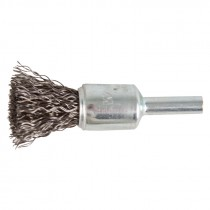 "1/2"" Crimped Wire End Brush .014"" - Carbon Steel"