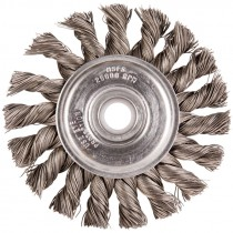 "3"" x 1/2-3/8"" Knot Wire Wheel .020 Wire - Carbon Steel"