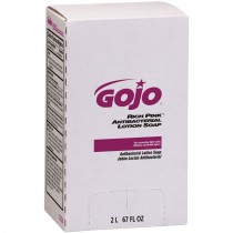 GOJO® Rich Pink Antibacterial Lotion Soap Refill, 2000ml
