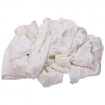 Bleached Knit T-Shirt Rags - 25 LB. Case