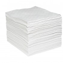 """15"""" x 19"""" Oil Only Sonic Bonded Sorbent Pads, Heavy Weight - (100 Per Bale)"""