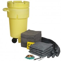 50 Gallon Wheeled Absorbent Spill Kit, Universal
