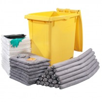 90 Gallon Wheeled Absorbent Spill Kit, Universal