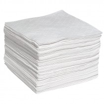 """15"""" x 19"""" Oil Only Sonic Bonded Sorbent Pads, - Medium Weight"""