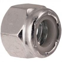 7/8-9 Grade 2 Zinc Plated Nylon Lock Nut